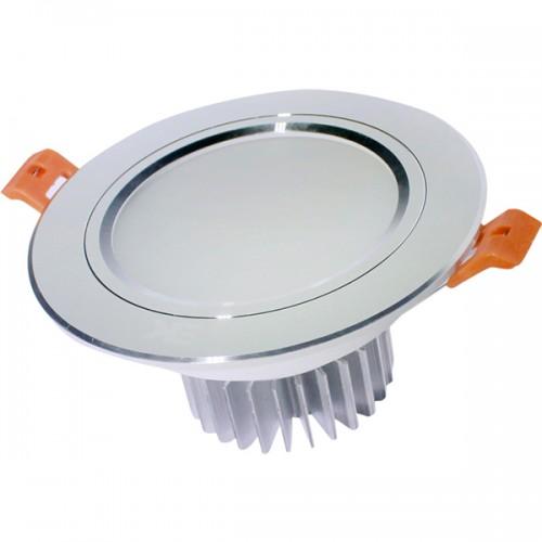 Đèn-led-downlight-viền-bạc-đế-dày