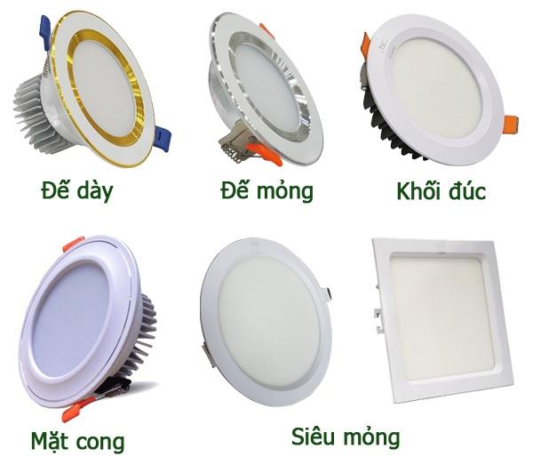 Các loại bóng đèn âm trần