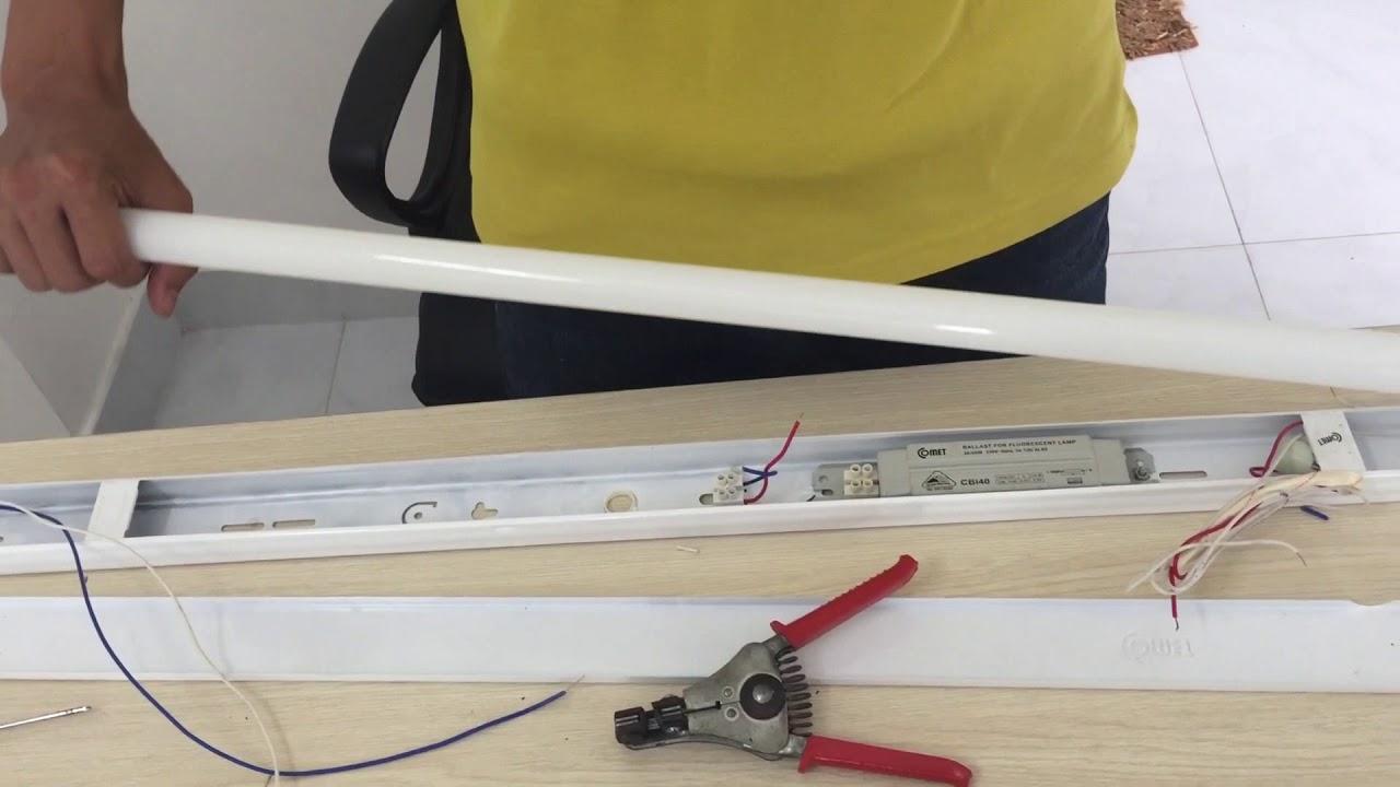 Tháo lắp đèn led tube