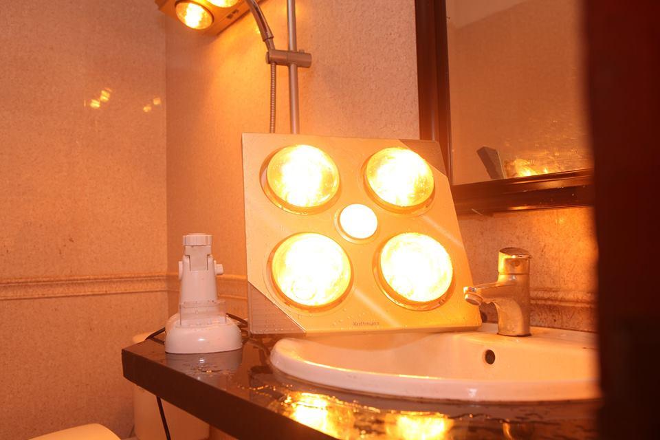 Chú ý khi sử dụng bóng đèn sưởi ấm nhà tắm